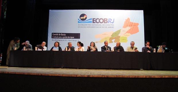 O ECOB-RJ é um evento promovido pelo Fórum Fluminense dos Comitês de Bacias (Dulce Tupy)