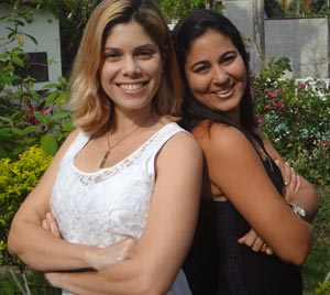 As jovens Moema e Vanessa (Foto: Edimilson Soares)