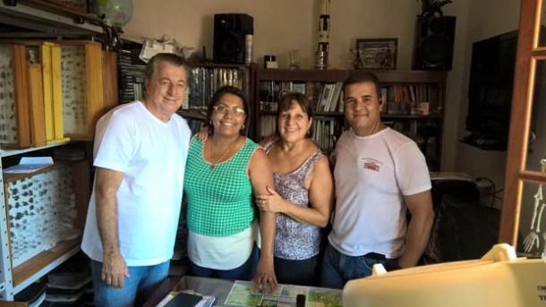 O Museu de Conhecimentos Gerais também recebeu a visita do ex-prefeito Antonio Peres, da vereadora Adriana e da ex-secretária de Assistência Social Ana Amélia, irmã de Peres (Foto: Divulgação Facebook)