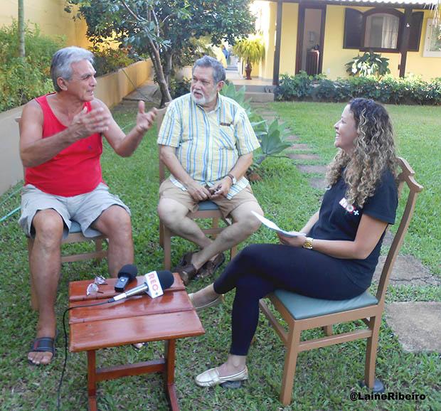 Pablo Videla, Paulo Gomes e Michele Maria, da Rec + (Foto: lane Ribeiro)