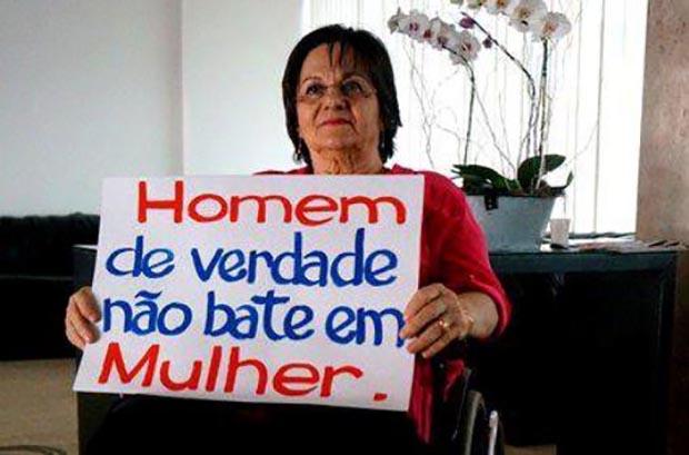 A farmacêutica Maria da Penha Fernandes levou um tiro do marido, em Fortaleza (CE), e lutou anos e anos para que seu agressor fosse condenado (Foto: Divulgação)