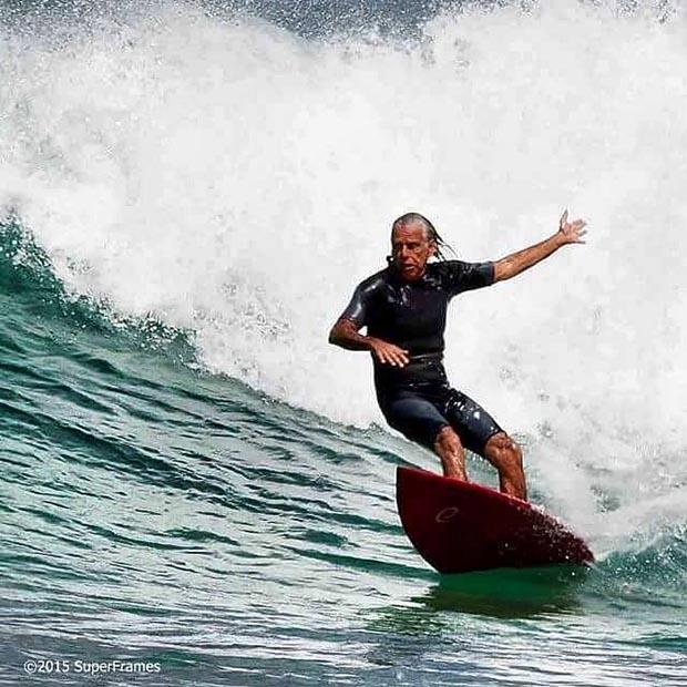 Maraca, a lenda do surfe em Saquarema (Foto: Revista Super Frames 2015)