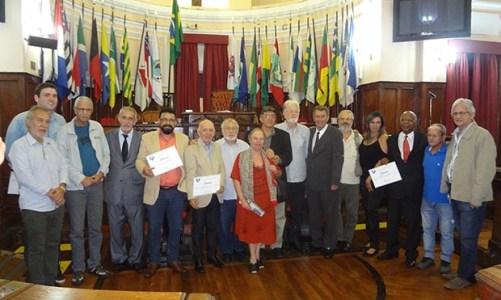 Congratulações e homenagens na posse da nova diretoria do Sindicato dos Jornalistas
