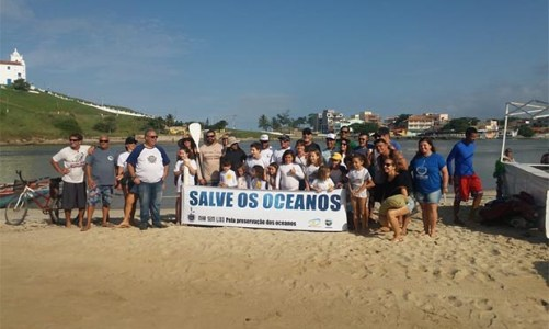 Projeto Praia Limpa, do Ministério Público Federal se realizou na Barrinha em Itaúna