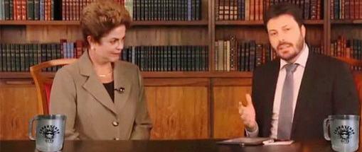 Danilo Gentilli entrevista Dilma (Foto: Reprodução/Youtube)
