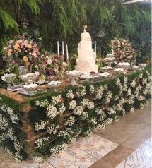 Mesa de bolo casamento