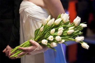 Buquê de noiva braçada