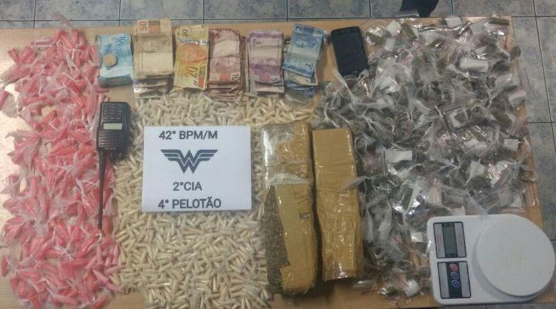 PM prende traficante com dois quilos de maconha na zona Norte