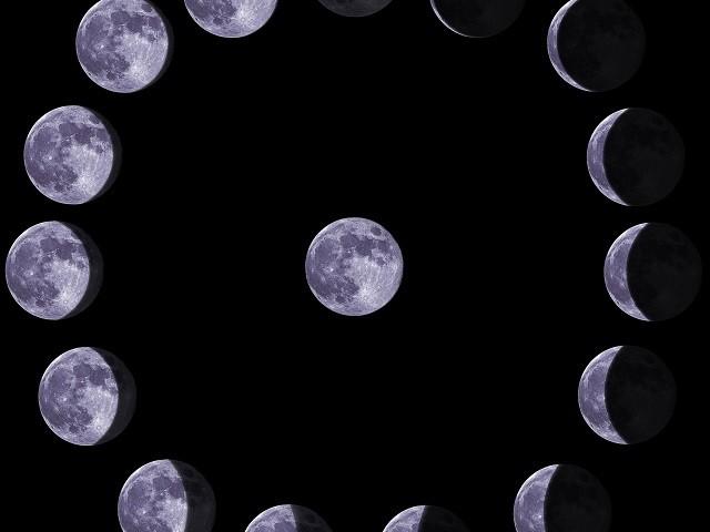 Лунен календар с Фазите на луната за 2019 година