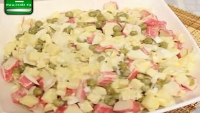 Рецепта за картофена салата с ролца от раци