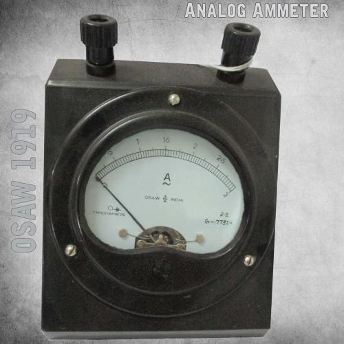 Analog Ammeter - Supplier, Manufacturer and Exporter