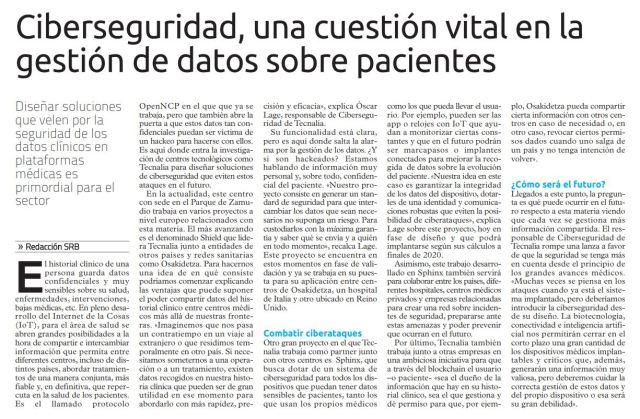 ElCorreo Ciberseguridad Salud Oscar Lage