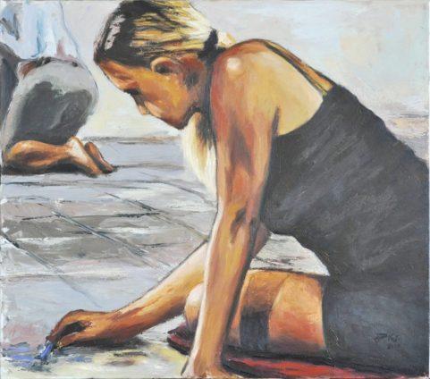 Artisti di strada, Olio su tela, cm.70x80, 2010 ■