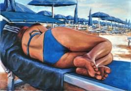 Bagno blu, Acrilico su tela, cm.70x100, 2012