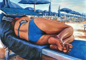 BAGNO BLU, Acrylic on canvas, cm.70x100, 2012