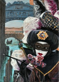 Carnevale sotto il Ponte, Oil on canvas, cm.70x50, 2007