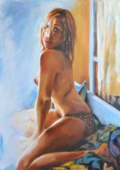 Controluce, Acrylic on canvas, cm.70×50, 2011 ■