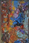 DONNA BLU, Acrilico su tela, cm.30x20, 2015