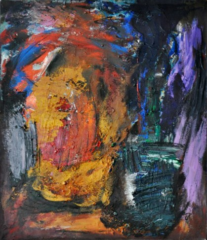EUFORIA NOTTURNA, Acrylic on canvas, cm.70x60, 2015