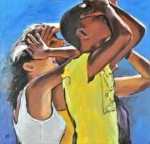 Fin dove, Acrylic on canvas, cm.60x60, 2012
