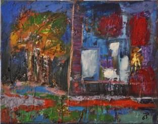 FINESTRA SUL GIARDINO, Acrylic on canvas, cm.40x50, 2015