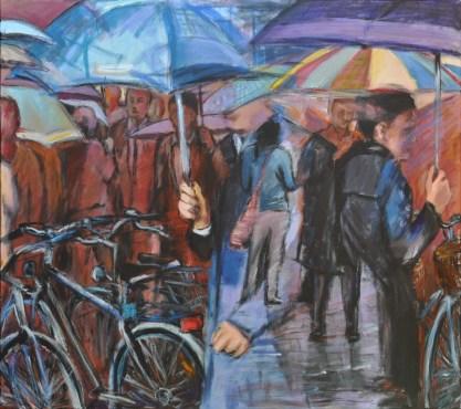 GENTE RIFLESSA, Acrylic on canvas, cm.80x90, 2010