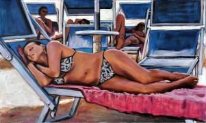 GEOMETRIA BLU, Acrilico su tela, cm.60x100, 2012
