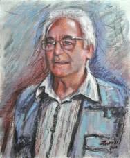 Gianfranco, Acrylic on handmade paper, cm.52×43, 2011 ■
