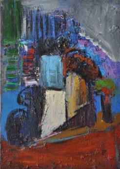 GEOMETRIA URBANA, Acrylic on canvas, cm.70x50,2015