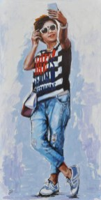 HOW DO YOU LOOK?, Acrylic on canvas, cm.120x60, 2015