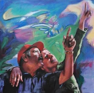 IL RAGGIO VERDE, Acrylic on canvas, cm.100x100, 2011