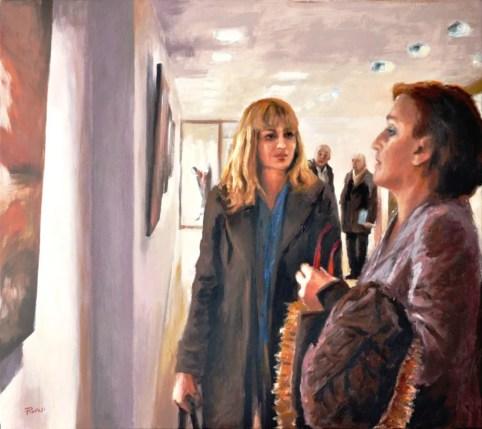 Incontri in luoghi interiori, Acrilico su tela, cm.80x90, 2011