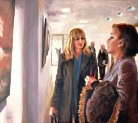 INCONTRI IN LUOGHI INFERIORI, Acrylic on canvas, cm.80x90, 2011