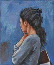 INTIMA SPERANZA, Acrilico su tela, cm.60x50, 2014