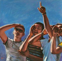 LA DOMANDA, Acrilico su tela, cm.80x80, 2011