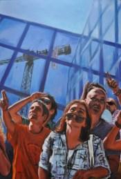 La protesta degli ultimi, Acrylic on canvas, cm.120x80, 2011 ■