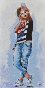 MAGIC MIRROR, Acrilico su tela, cm.120x60, 2015