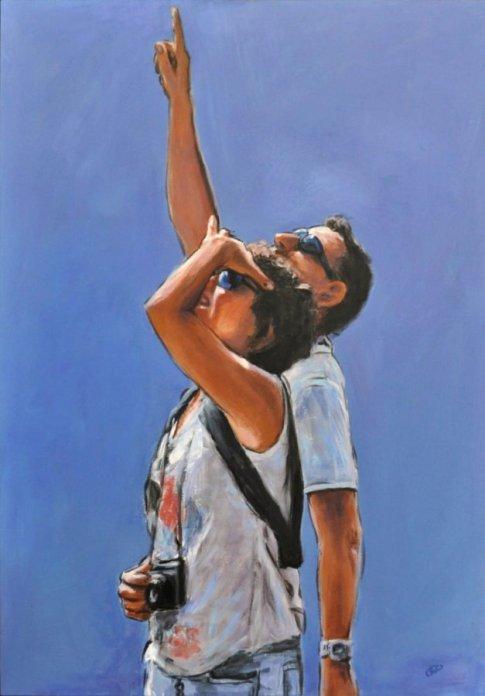 PROFONDO SOSPESO, Acrilico su telas, cm.100x70, 2012