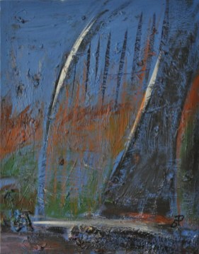 PONTI, Acrylic on canvas. cm.45x35, 1015