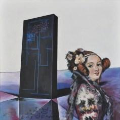 RITORNO ALO FUTURO - ADA LOVELACE, Acrilico su tela, cm.80x80, 2016