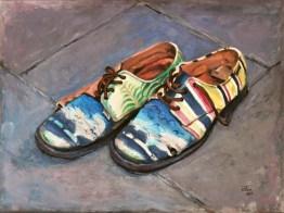 Scarpe d'autore, Oil on canvas, cm.60x80, 2009 ■