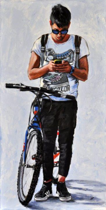 Stopwatch, Acrilico su tela, cm.120x60, 2014