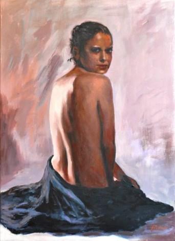 Su rosa, Acrilico su telas, cm.70×50, 2011