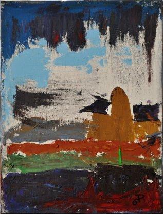 SEMI-ASTRATTO, Acrilico su tela, cm.40x30,2014