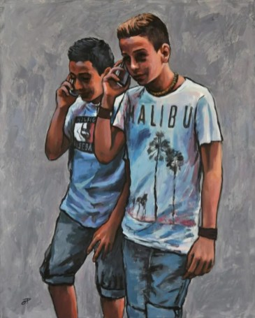 TALKING, Acrilico su tela, cm.100x80, 2013