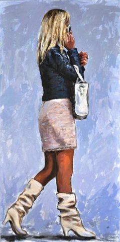 Tell me where, Acrilico su tela, cm.120x60, 2014
