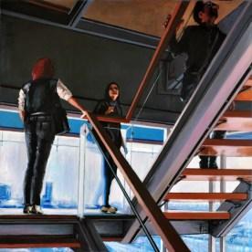 UP 02, Acrylic on canvas, cm.100x100, 2013