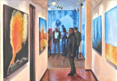 Viaggiando nel viaggio, Acrylic on canvas, cm.100x70, 2011