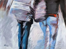 Lui e lei, Acrylic on canvas, cm. 60x80, 2010