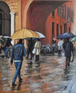 GIORNI PIOVOSI, Acrylic on canvas, cm.50x40, 2011